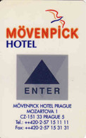 Czech Republic, Hotel Magnetic Keycard, Hotel Movenpick Praha - Cartes D'hotel