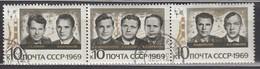 UdSSR 1969  - MiNr: 3682-3684 Komplett  Used - Raumfahrt