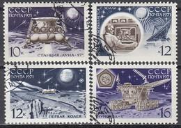 UdSSR 1971  - MiNr: 3857-3860  Komplett  Used - Raumfahrt