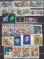 UdSSR 1975-1980  - Partie Raumfahrt Mit 24 Verschiedenen  Used - Raumfahrt
