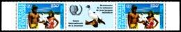POLYNESIE 1985 - Yv. PA 188A = 188 En Paire ** SUP Bdf  Cote= 18,50 EUR - Tryptique Année Jeunesse  ..Réf.POL23710 - Airmail