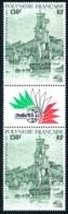 POLYNESIE 1985 - Yv. PA 189A = 189 En Paire **   Cote= 14,00 EUR - Tryptique Expo Phil. Italia'85  ..Réf.POL23713 - Airmail