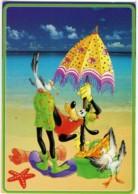 GOOFYE  PIPPO  WALT DISNEY  Spiaggia Ombrellone  Gabbiani  Cesto Della Merenda - Disney