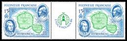 POLYNESIE 1986 - Yv. PA 192A = 192 En Paire ** SUP  Cote= 13,00 EUR - Tryptique Expo Stockholmia'87  ..Réf.POL23715 - Airmail