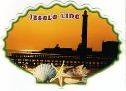SCHELL  CONCHIGLIA  COQUILLE  JESOLO LIDO  Sunset Whit Lighthouse  Shell Shape - Fantasia