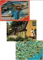 SUEDE /  Lot De 60 Cartes Postales Modernes écrites - Postkaarten