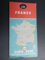 2.2) FRANCIA FRANCE CARTA ESSO ROUTIER ET TOURISTIQUE - Carte Stradali