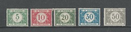 Belgique: Taxe - 26/ 31 ** - Stamps