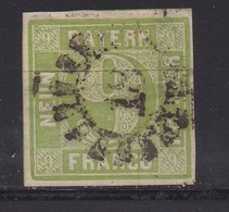 BAYERN, 1850, Used Stamp(s) , Number Stamps  M5,  Scan 15180, 9 Kr Green, - Bayern