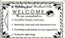 United States, Hotel Magnetic Keycard, Holiday Inn Hotel - Woodland Hills, California - Cartes D'hotel