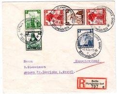 3. Reich: Trachten-Zusammendr. Auf R-Brief Vom Olymp. Dorf - Deutschland