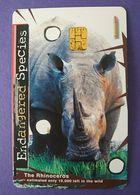 Singapore Phonecard Singtel Chip Rhino - Singapore