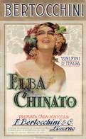 """D9194 """"ELBA CHINATO - VINI FINI D ITALIA - PREMIATA CASA VINICOLA BERTOCCHINI - LIVORNO""""  ETICHETTA ORIGINALE. - Etichette"""