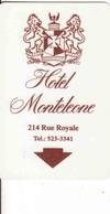 United States, Hotel Magnetic Keycard, Hotel Monteleone New Orleans Louisiana - Cartes D'hotel