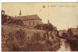 CPA - SAINT GHISLAIN - La Haine Et L'église Du Couvent - Saint-Ghislain