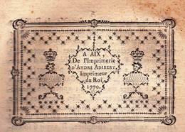 Rare Document Historique Original 1770 Marquis De Bandol (83) Contre Monsieur D'Eguilles (13)  99 Pages - Historische Documenten