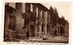 LEIDEN STADHUIS VERWOEST DOOR BRAND 12.2.1929 - Leiden