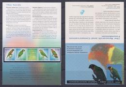 Papua New Guinea 1993 Conservation Stamps, Parrots Stamp Pack - Papouasie-Nouvelle-Guinée
