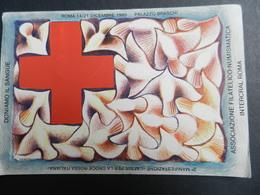 2.2) CROCE ROSSA DONIAMO IL SANGUE ASSOCIAZIONE FILATELICO NUMISMATICA INTERCRAL ROMA 1980 - Croce Rossa