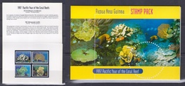 Papua New Guinea 1997 Pacific Year Of The Coral Reef Stamp Pack - Papouasie-Nouvelle-Guinée