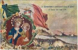 """1930circa-""""La (Madonna) Consolata Ti Restituisca Cinto Di Gloria Al Bacio Dei Tuoi Cari"""" - Patriotic"""