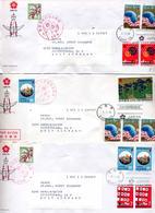 3 Lettre Cachet Flamme Expo 70 Tokio - 1926-89 Empereur Hirohito (Ere Showa)
