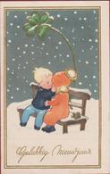 Kind Enfant Illustrateur Illustrator Children Romance Romantiek Gelukkig Nieuwjaar Kinderen Trefle Klavertje Vier Winter - Illustratoren & Fotografen