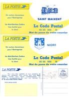Niort & Saint-Maixent - Deux-Sèvres - Carte En Franchise Suite Changement De Code Postal - 2 Cartes - Entiers Postaux