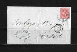 1864 SPANIEN → Brief Cadiz Nach Madrid - Lettres & Documents