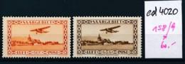 Saar Nr. 158-9  *  (ed4020  ) Siehe Scan - 1920-35 Société Des Nations