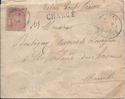 LT4588  N°98a Rose Pâle/Enveloppe CHARGE De DUCEY, Manche (48) Pour St HILAIRE-DU-HARCOUET, Manche (48), Du 8 Spet 1890 - 1876-1898 Sage (Type II)