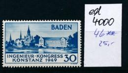 Baden Nr. 46   **   (ed4000 ) Siehe Scan - Französische Zone