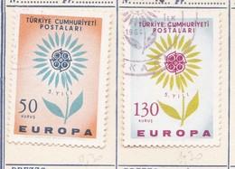 TURCHIA 1964 Europa 2 Valori. - 1921-... République