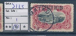 BELGIAN CONGO 1909 ISSUE COB 31L5 USED - Belgian Congo