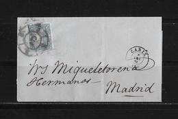 1865 SPANIEN → Brief Cadiz Nach Madrid - Lettres & Documents