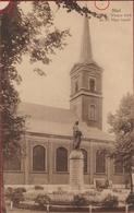 Oude Postkaart Niel OLV OL Vrouw Kerk En H. Heilig Hart Beeld (beschadigd) - Niel