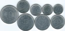 Brazil - Cruzado - 1 (1986), 5 (1987), 10 (1986), 20 (1986) & 50 Centavos (1986); 1 (1986), 5 (1986) 10 Cruzados (1988) - Brazil