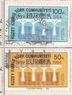 Cipro Turca 1984 Europa 25 Anniversario CEPT. - Cipro (Turchia)