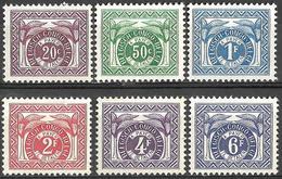 8Bv-751: Restje Van 6 Zegels:  Postfris : TX79/84 : Tx78 Ontbreekt : - Congo Belge
