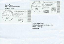 Cover Sent To Denmark.  H-156 - Poststempel - Freistempel