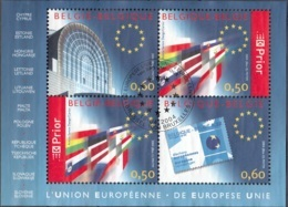 Belgique 2004 COB Bloc Feuillet 110 O Cote (2016) 6.50 Euro L'Union Européenne Cachet Rond - Blocs 1962-....