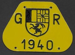 Velonummer Graubünden GR 40 - Plaques D'immatriculation