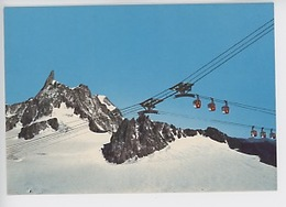 Courmayer-Chamonix - Punta Helbronner Téléphérique Des Glaciers (n°1224 Cp Vierge) Dent, Col Du Géant, Grandes Jorasses - Chamonix-Mont-Blanc