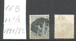 FINLAND FINNLAND 1881/82 Michel 16 B O Mute Cancel Stumme Stempel - 1856-1917 Administration Russe