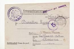344 WW II P.O.W. STALAG XIII P - 1944 TO COLLINA  ANCONA ITALY - Storia Postale