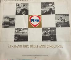 """VENDO CALENDARIO AUTOMOBILISTICO DEL 1986 """"FINA-LE GRAND PRIX DEGLI ANNI CINQUANTA-"""" IN PERFETTE CONDIZIONI - Formato Grande : 1981-90"""