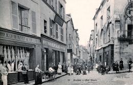 78. YVELINES - MEULAN. Rue Haute. Commerces : Boucherie Joliveau Et Ornements Funéraires Hulin Gallais. - Meulan