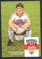 Germany 1980s Card: Football Fussball Soccer Calcio: VfB Stuttgarg: Asgeir Sigurvinsson Autograph Card - Clubs Mythiques