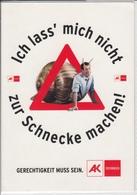 Werbung Advertise Publicité AK Österreich, Arbeiterkammer, Schnecke, Snail  Nice Stamp, Sondermarke - Werbepostkarten