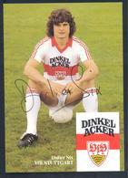 Germany 1980s Card: Football Fussball Soccer Calcio: VfB Stuttgarg: Didier Six Autograph Card - Clubs Mythiques